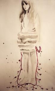 Attanasio_Airborne 4_ acquerello e pigmento su carta, cm 80x55, 2011